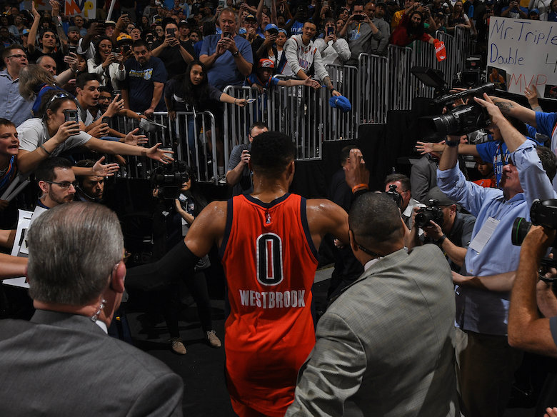 Thunder hold team meeting after loss in Denver