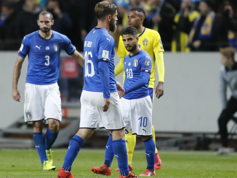 Italy risks missing World Cup after losing to Sweden 1-0