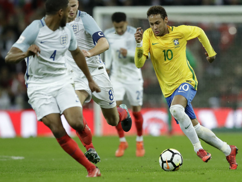 Brazil foiled as ice-cold England hold on to draw friendly