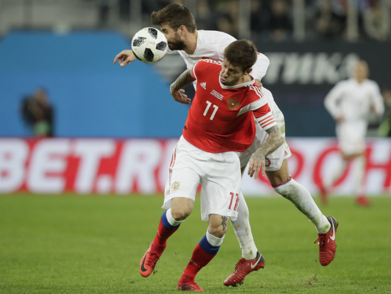 Ramos scores twice as Spain draws 3-3 with Russia