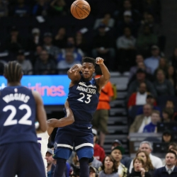 Butler, balanced Wolves pull away from Mavs for 111-87 win