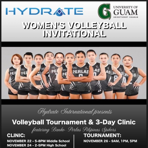 BanKo-Perlas flies to Guam for a 5-day volleyball event