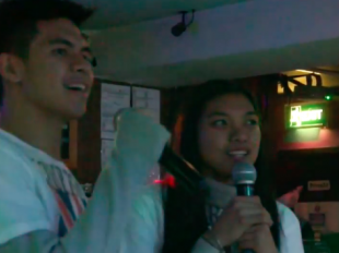 Alyssa Valdez and Kiefer Ravena singing