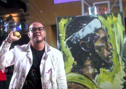 LeBron James Work of Art: Painting by David Garibaldi