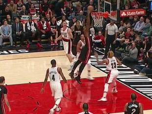 Highlights Hassan Whiteside 28 points   vs the Trail Blazers