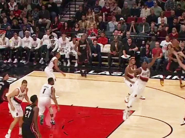 The Heat with a 10-0 run