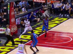 Dennis Schroder with 8 assists against the Thunder