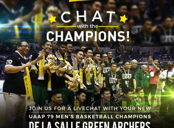 ABS-CBN Sports LIVE CHAT with the UAAP Champions DLSU