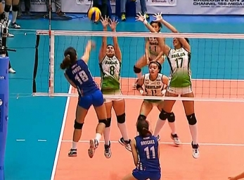 NCAA 92 Women's Volleyball Step Ladder: CSB vs AU