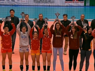 NCAA 92 WOMEN'S VOLLEYBALL: Awarding Ceremony