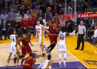Cavaliers Big Three combine for 101 points vs the Lakers
