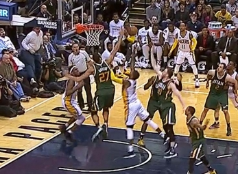 Rudy Gobert comes up with eight blocks in loss to the Pacers