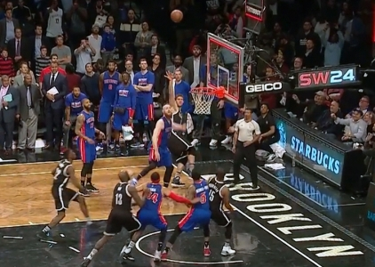 Brook Lopez with the game-winner vs the Pistons