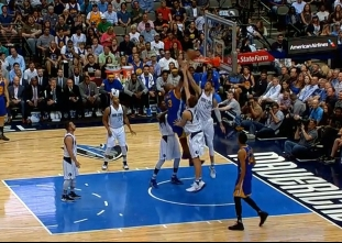 David West throws it down vs the Mavericks