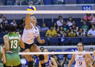 Michelle Morente sinks La Salle with this strong hit!