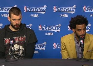 PRESS CON: Grizzlies edge Spurs in OT
