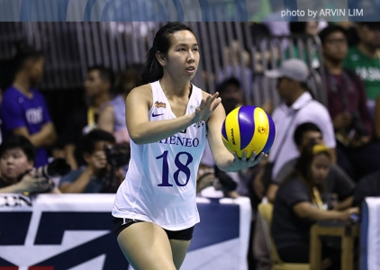 WATCH! Ateneo's Kim Gequillana scores a point with her head!