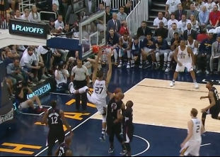 Rudy Gobert returns, throws it down vs the Clippers