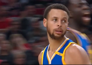Stephen Curry scores 37 points vs the Trail Blazers