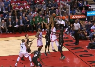 Norman Powell with the dunk vs the Bucks