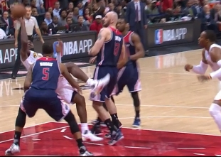 Paul Millsap with clutch put-back and-one vs the Wizards