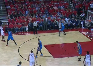 Lou Williams hits from way downtown vs the Thunder