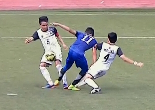 UAAP 79 FOOTBALL SEMIFINALS: ADMU vs UST (H1)