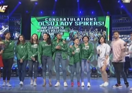 Lady Spikers show off their dance moves on It's Showtime