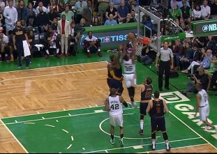 Marcus Smart rises for the jam vs the Cavaliers