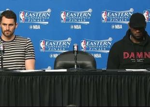 PRESS CON: Cavaliers enjoy game one romp over Celtics