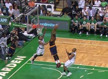 Tristan Thompson throws it down vs the Celtics