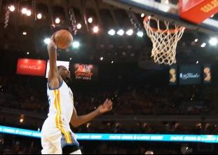PHANTOM CAM: Durant goes coast-to-coast for the slam