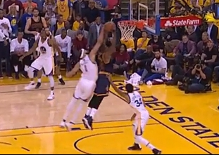 JaVale McGee rejects Tristan Thompson from behind