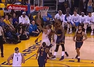 Stephen Curry breaks down Tristan Thompson and scores
