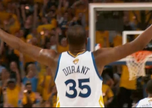PHANTOM CAM: Best of Kevin Durant in Finals game one