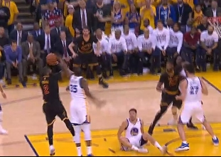 Durant with the block on one end, and a triple on the other