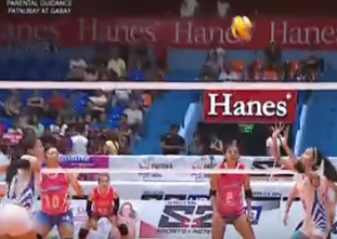 Jasmine Nabor finds Risa Sato for the lightning-quick hit!