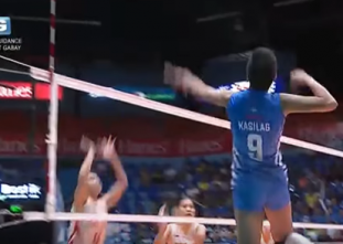 Kasilag with a thunderous hit to seal the opening set