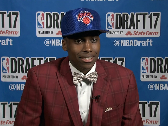 Frank Ntilikina Interview After Being Drafted