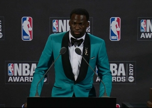 2017 NBA Awards: Draymond Green Press Conference