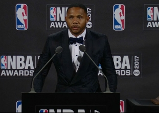 2017 NBA Awards: Eric Gordon Press Conference