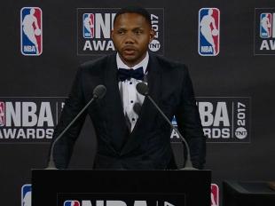 2017 NBA Awards: Eric Gordon Press Conference