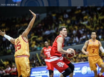 WATCH: Robert Bolick breaks free for the wide-open three
