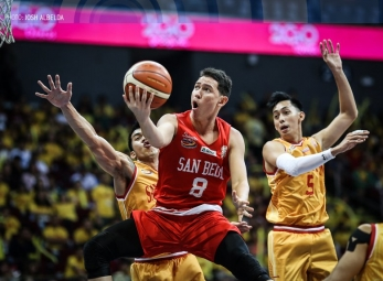 WATCH: Robert Bolick's clutch hangtime move