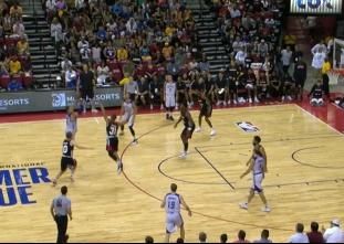 Kyle Kuzma with the buzzer-beating triple vs the Blazers