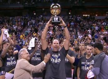 Lakers lift 2017 Las Vegas Summer League championship trophy