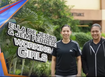 Work and play? No problem for Ella De Jesus and Jem Ferrer