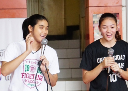 Volleyball stars Molde, Carlos teach kids for Project Hero