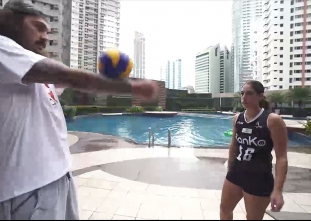 THROWBACK: Steven Adams plays PH games with Amy Ahomiro