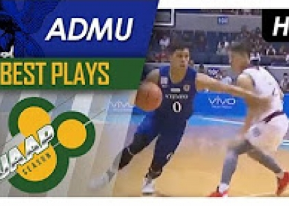 Thirdy Ravena toys with the defense for the reverse finish